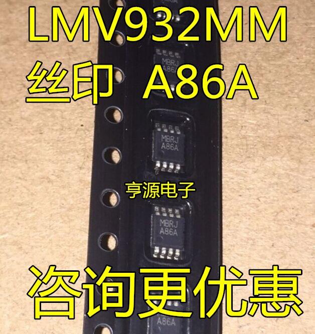 Шелковый экран LMV932MMX LMV932MM LMV932 A86A MSOP8, новый и оригинальный
