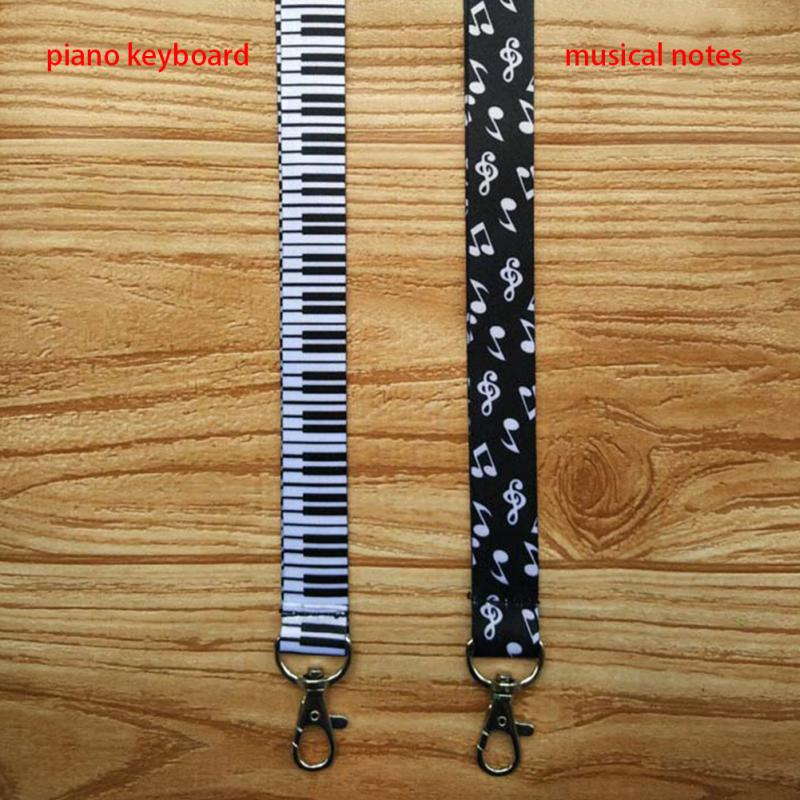 1pcs New Arrival Hot selling Musical Note Printed Cell Phone Neck Lanyard Key Strap For Smartphone Keys ID Card in Mobile Phone Straps from Cellphones Telecommunications