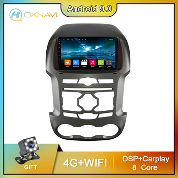 For Ford Ranger F250 Car Radio NO DVD 2 Din Autoradio 2011-2015 Android 9.0 Carplay Touch Screen Support DVR OBD Steering Wheel image