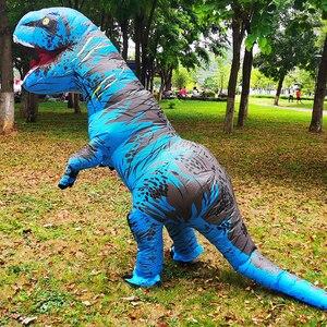 Image 4 - Взрослый надувной костюм динозавра T REX Косплей вечерние костюмы на Хэллоуин для мужчин и женщин аниме маскарадный костюм