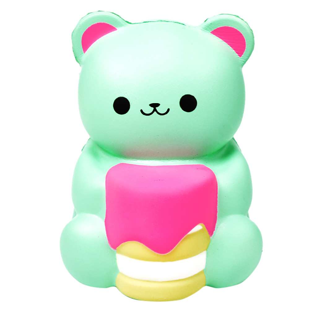 Cute Bear Shape Decompression Venting Toys Slow Rebound Cartoon Animal Toy Kids Adult Toys Relieve Stress #B