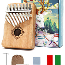 Musical-Instruments Piano Mahogany Mbira Music-Box Kalimba Wood 17-Keys Creative Body