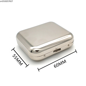 Image 3 - New Arrival Smallsweet Stainless Steel Square Pocket Ashtray metal Ash Tray Pocket Ashtrays With Lids Portable Ashtray