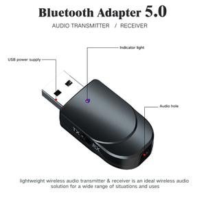 Хит продаж Bluetooth 5,0 приемник передатчик 3 в 1 Мини стерео AUX RCA 3,5 мм разъем USB аудио беспроводной адаптер для ТВ ПК автомобильные наушники