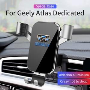 Image 1 - Auto Handy Halter Halterungen Stehen GPS Halterung Telefon Schwerkraft Navigation Halterung Für Geely Atlas 2015 2020 Auto Zubehör