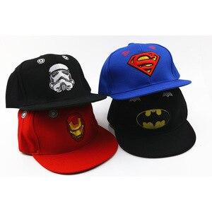 Image 5 - 3D haft Iron Man Batman czapki baseballowe dzieci Snapback czapki hip hopowe kapelusze przeciwsłoneczne dla chłopców dziewcząt 2 9 lat gorras