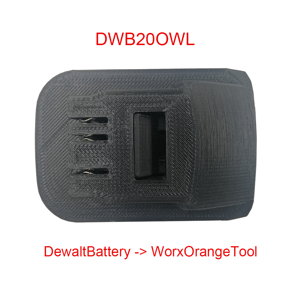 Power Tool Adapter Converter Use Dewalt 18V 20V 60V Lithium Battery On WORX Orange Small Foot Machine Drill Hammer Screwdriver