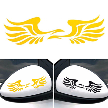 Angel Wings Lovely Reflective Car Stickers Vinyl Decal Fashion Car Rearview Mirror Decoration Car Styling For Car Accessories image