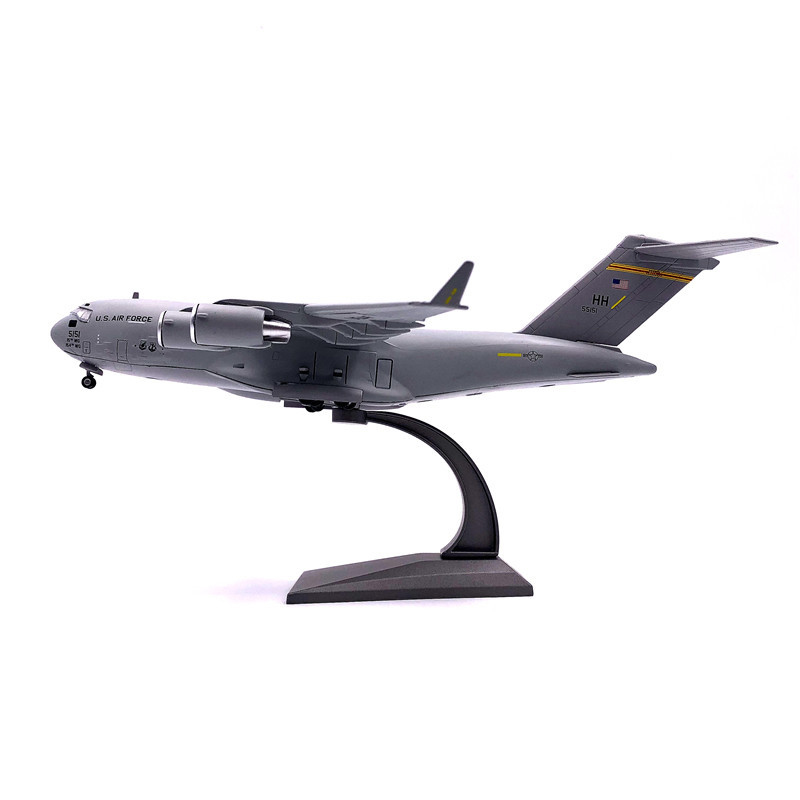 1/200 27CM Airplane Model USA Globemaster C-17 Military Transport Aircraft Simulation Metal Diecast Alloy Fighter Plane
