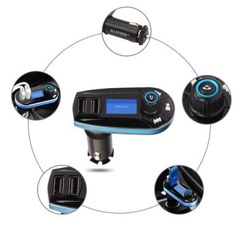 618C nadajnik samochodowy Bluetooth nadajnik FM ładowarka samochodowa nadajnik Bluetooth 2 1 obsługa zestawu głośnomówiącego Bluetooth karty TF tanie i dobre opinie VODOOL NONE CN (pochodzenie) Nadajniki fm