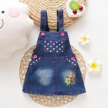 IENENS 1-3Y Baby Girls Denim Dress Kids Sleeveless Casual Overalls Summer Girls Clothes 1-3 Years Child Dress Suspender Dresses