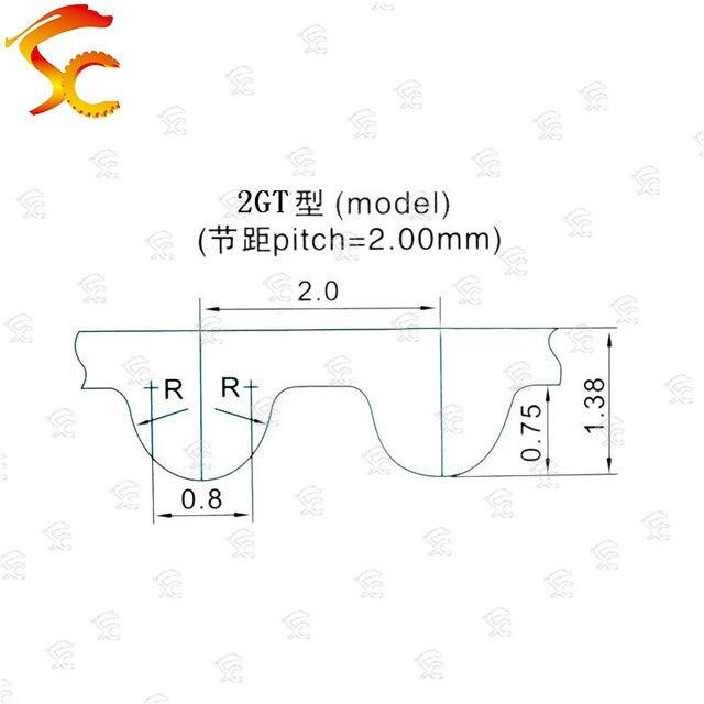 10pcs 2GT-930-6/10mm belt closed loop rubber 2GT-930-6/10mm timing belt Teeth 465  Length 930mm width 10/6mm for 3D printer