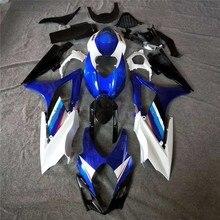Синий набор корпусных деталей для мотоцикла Обтекатели gsx-r1000 2007 2008 GSXR 1000 07-08 K7 для Suzuki Обтекатели Черный/белый