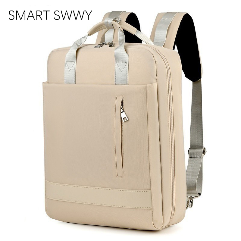 Large Capacity Men Waterproof Nylon Bag Women 15.6 Inch Laptop Backpack With Charging Port School Bags For Teenage Girl Boy 2019