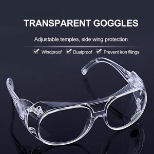 Safety Clear Glasses Anti Splash Eye Protection Anti-Dust Goggles Transparent Silicone cycling goggles