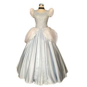 Платье Золушки, костюм для косплея для взрослых и женщин