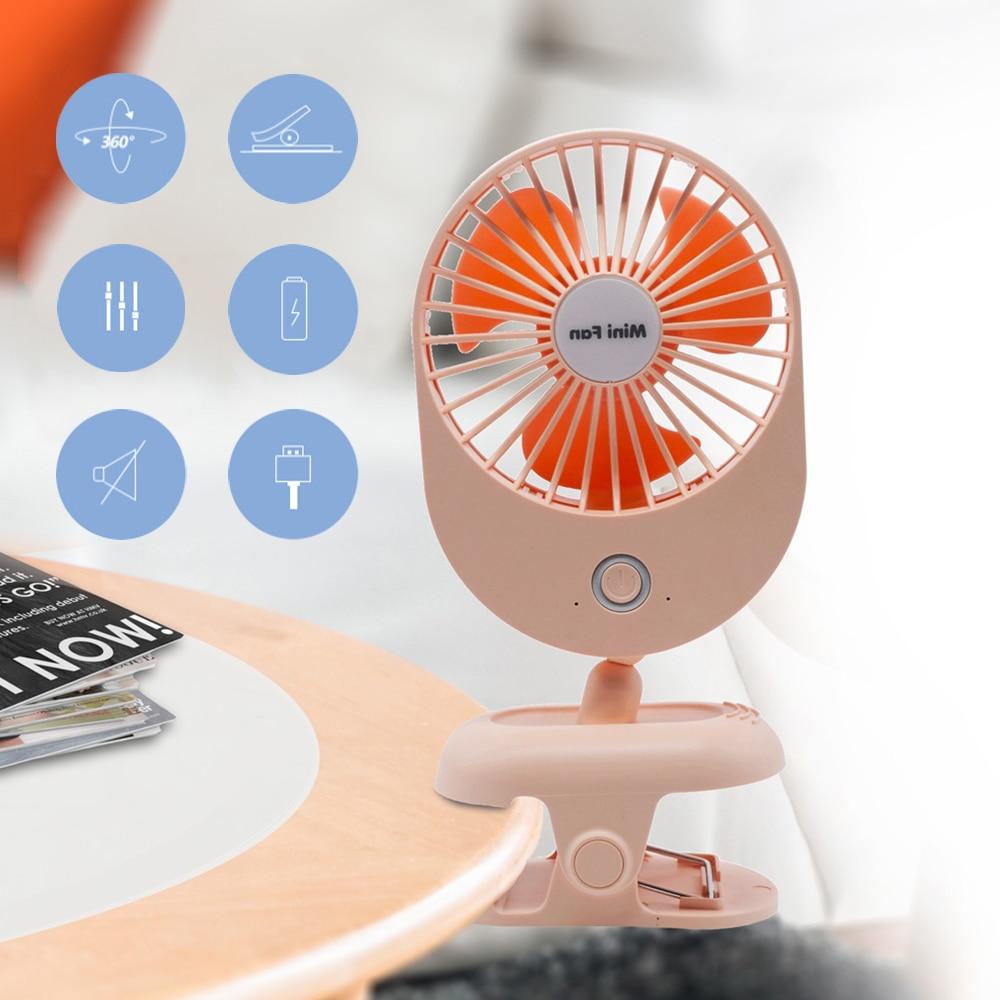 Portable Mini USB Fan Desk ABS Electric Computer Table Fan Office Electric Fans Mini Ventilator Office,1200mAh White