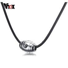 Vnox Yin Yang Ba Gua Taichi Pendentif Collier pour Femmes Hommes Bijoux Punk Chaîne Colliers Collares Colar
