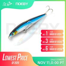 NOEBY NBL9126 Pencil Lure Sinking Stickbait Blues Slim Long Casting Fishing Lure Wobbler 125mm/21.5g for Sea Bass Fishing Tackle
