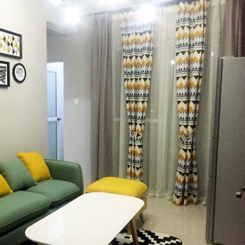 Купить с кэшбэком Fashion Geometric Custom Curtain Contracted Contemporary Curtains for Living Room Bedroom Shading Nordic Day Type Style