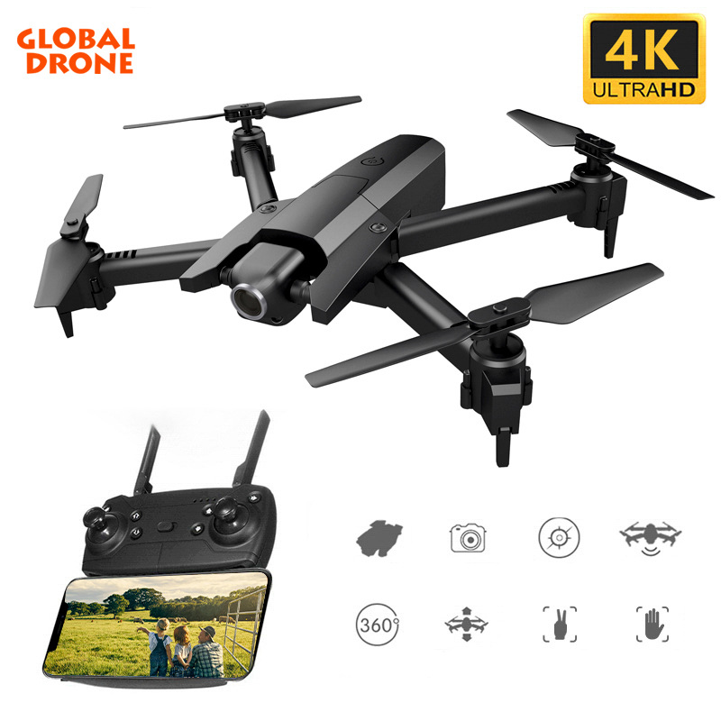 Global Drone <font><b>GW106</b></font> 4K Professional Drones with Camera Hd RC Helicopter Educational Toys Opitical Flow Drons FPV Quadcopter image