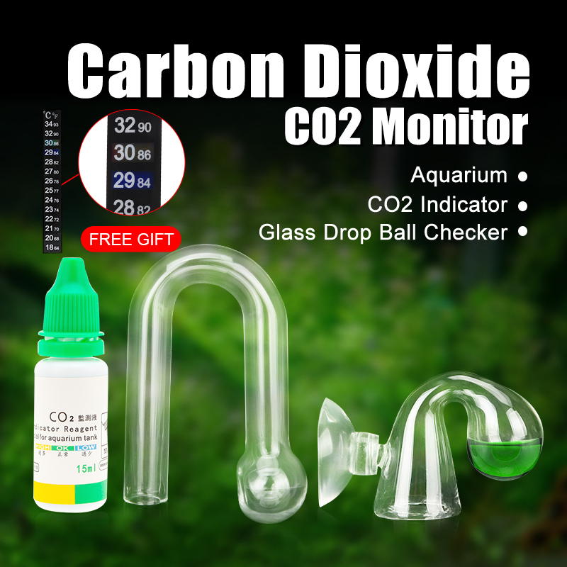 Aquarium CO2 Monitor Liquid Test Fish Tank Solution Plants For CO2 Indicator drop checker PH Long Term Monitor CO2 Tester image