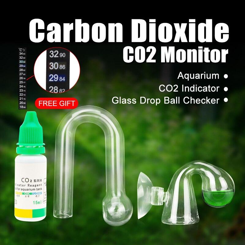 Aquarium CO2 moniteur liquide Test Aquarium Solution plantes pour CO2 indicateur goutte vérificateur PH moniteur à Long terme CO2 testeur