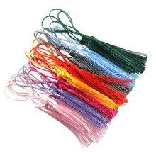 Conjunto de 30 borlas de seda artesanato para lembrança bookmarks jóias fazendo acessórios