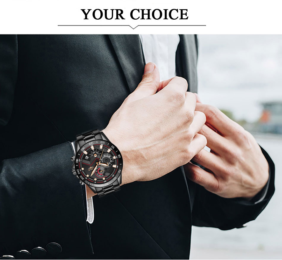 H04c0628e2df9402b99797eb1f248f95dR Relogio Masculino LIGE Chronograph Mens Watches Stainless Steel Waterproof Date Quartz Watch Men Business Classic Male Clock+box