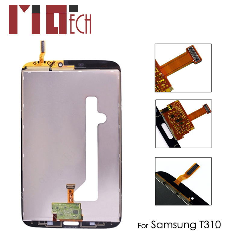 <font><b>LCD</b></font> Display For <font><b>Samsung</b></font> Galaxy Tab 3 T310 <font><b>T311</b></font> 8.0 inch SM-T310 Wifi Touch Screen Digitizer Glass Panel Replacement Assembly image