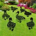 Декоративные садовые статуи утка-двор, пластиковые домики для курицы и газона, украшение для сада, уличное садовое украшение