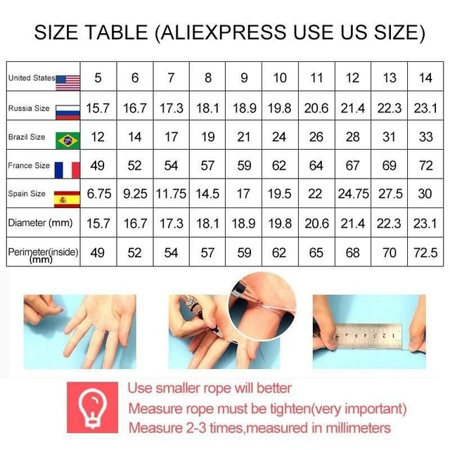 Fashion Women Ring Luxury Crystal Zircon Engagement Ring For Women Accessories Female Wedding Jewelry Gift 3