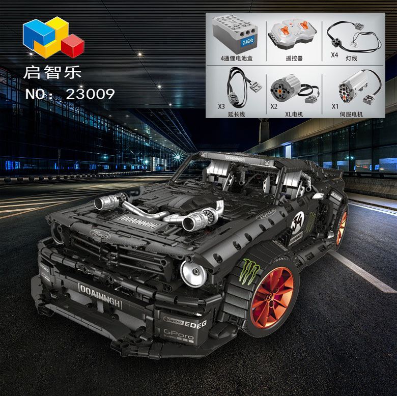 Technic series Remote Control Bricks Ford Mustang Hoonicorn RTR V2 Model Kit Fit Lepined Technic MOC-22970 Building Blocks Toys 2