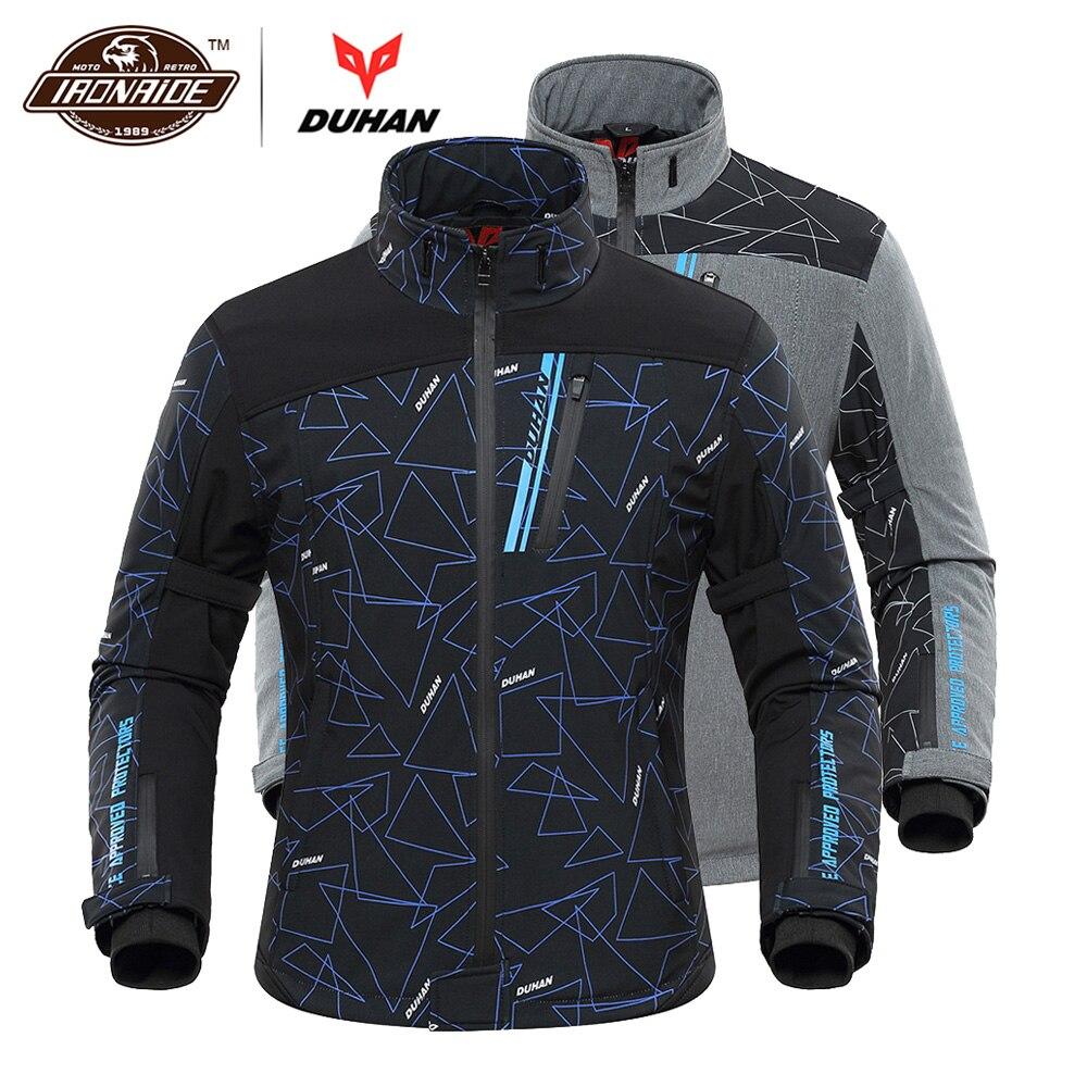 DUHAN мотоциклетная куртка для мужчин с подогревом Мото куртка с электрическим подогревом Мотоцикл Мотокросс Гонки куртка для верховой езды