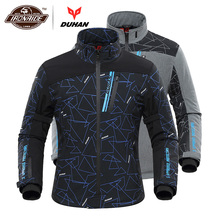 DUHAN Motorcycle Jacket Men Heated Moto Jacket Electric Heating Motorbike Motocross Racing Riding Jacket for Autumn Winter
