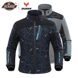 DUHAN Motorjas Mannen Verwarmde Moto Jacket Elektrische Verwarming Motorbike Motocross Racing Rijden Jas voor Herfst Winter