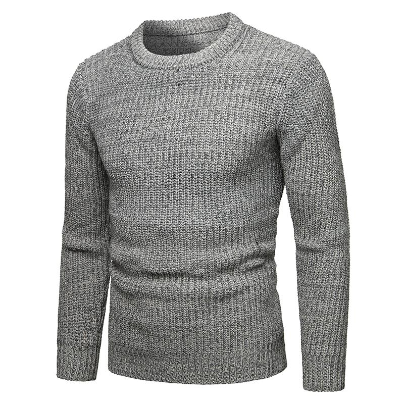 Sweater Men Autumn New Warm Collar Pullover Casual Sweater Pullover Pull Homme