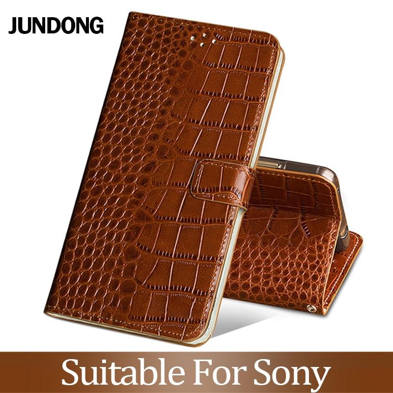 For Sony Xperia XZ1XZ2 XZ3 XZ4 XA2 XA3 L3 Compact Xz Z5 Premium Case Cowhide Luxury Card slot wallet phone flip cover