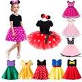 Детские платья для девочек  карнавальный костюм на день рождения  Хэллоуин  Детский костюм с Минни Маус  одежда для маленьких девочек 2-6 лет