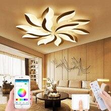 Modern living room LED ceiling lamp bedroom lamp new led pendant lamp indoor home pendant lamp remote control APP control lamp