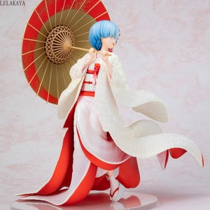 Image 3 - Yeni Anime Re: farklı bir dünyada yaşam sıfır Rem Ram beyaz Kimono gelin şemsiye Ver. 1/7 PVC Action şekilli kalıp oyuncaklar