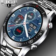 Lige 2020 Новый Элитный бренд Для мужчин s часы Сталь группа