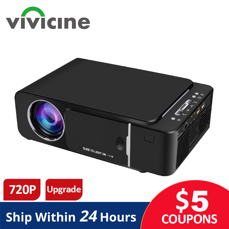 VIVICINE 1280x720p Portable HD Projector,Option Android 9.0 HDMI USB 1080p Home Theater Proyector WIFI Mini Led Beamer(China)