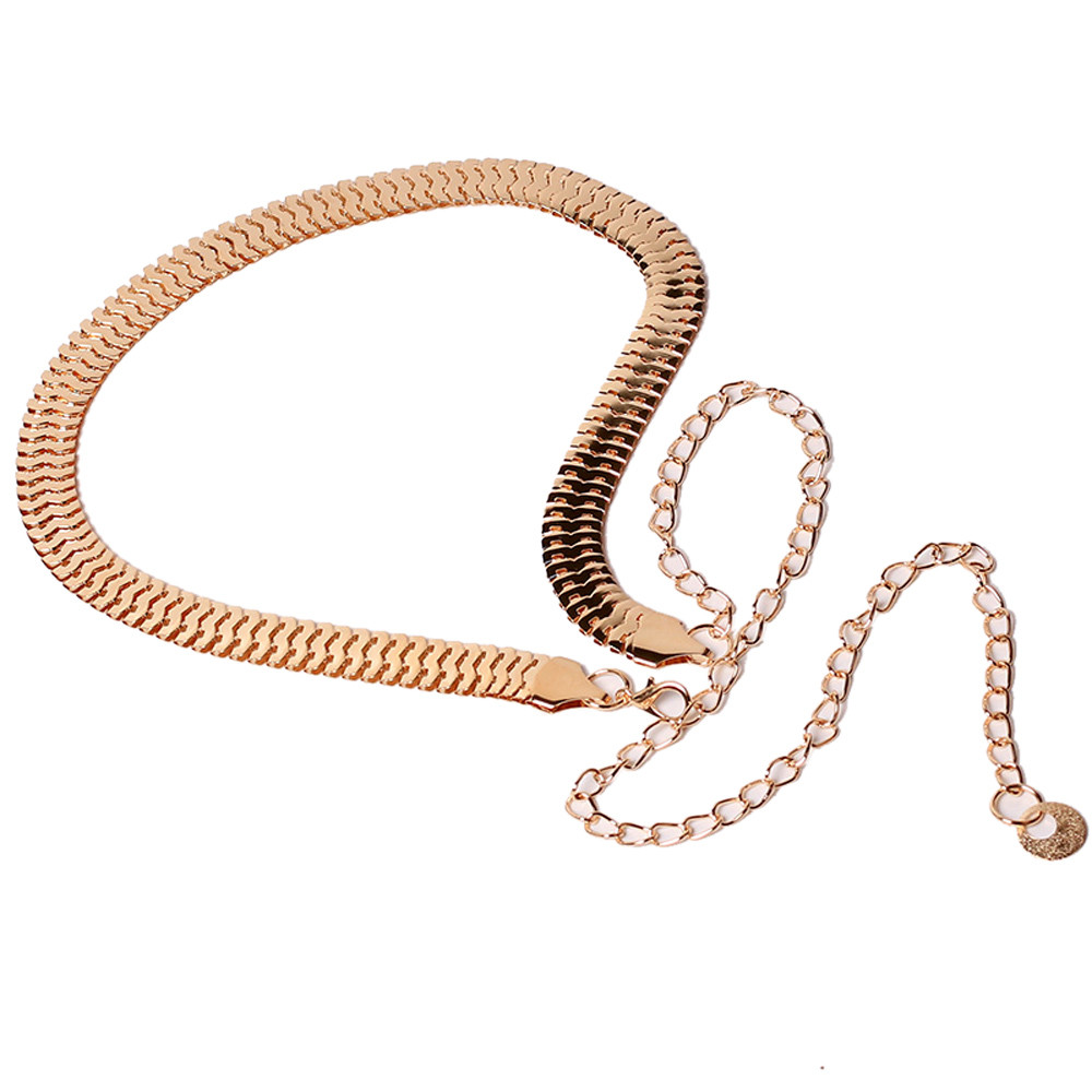 Jaycosin Women's Lady Fashion Metal Chain Dress Waist Chain Convenient  Pearl Style Elegant Top Party Waist Belts