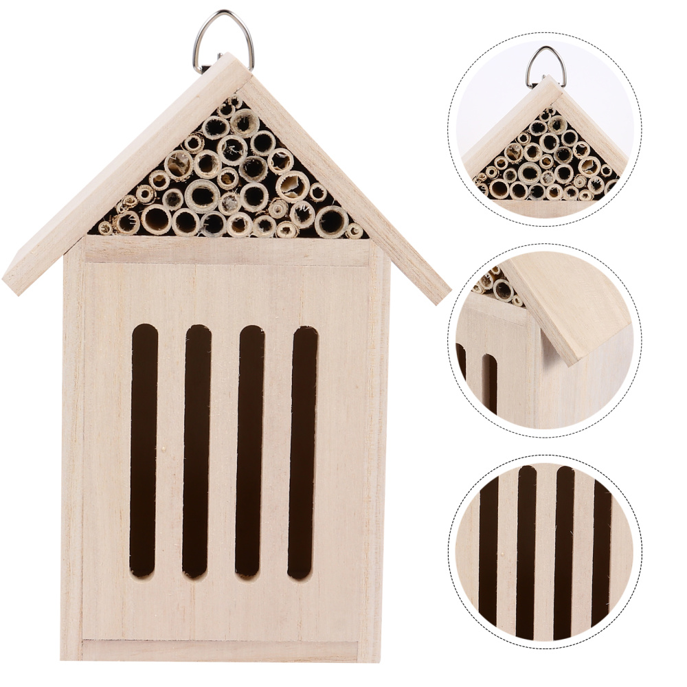 Bee Hive Wooden House Hanging Insect Hotels for Ladybugs Bee Butterflies Beetle