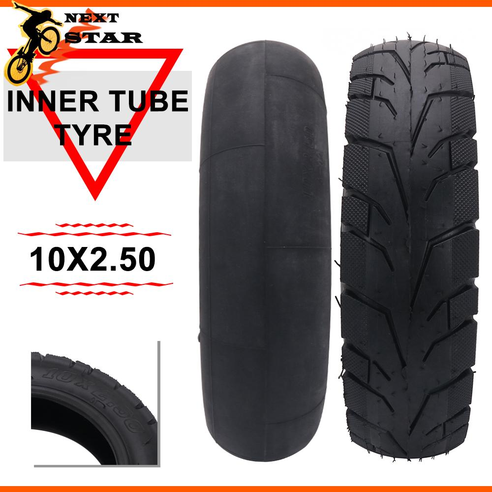 <font><b>10*2.5</b></font> Inner Tube Outer Tyre Pneumatic <font><b>Tire</b></font> inflatable 10x2.5 Bent Valve For Gas Electric Scooters E-bike Minibike Karting Wheel image