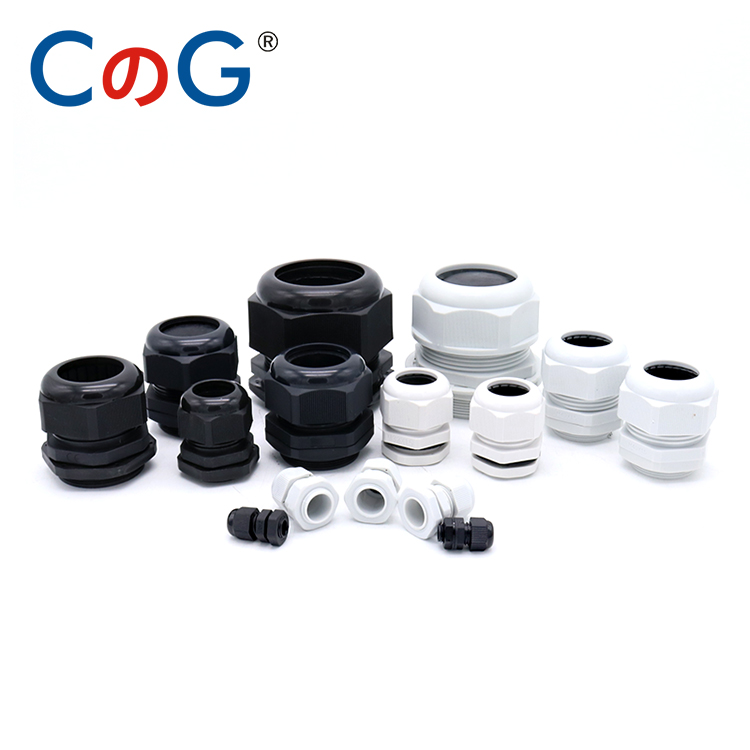 10pcs IP68 PG7 for 3-6.5mm PG9 PG11 PG13.5 PG16 PG19 21 25 Wire Cable White Black Waterproof Nylon Plastic Cable Gland Connector image