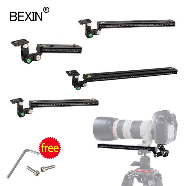Long RRS ARCA SWISS camera tripod Quick Release Plate telephoto Lens Bracket support holder for Long Nodal Slide Rail Adapter