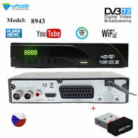 Free freight DVB T2 Tuner set top box Terrestrial TV Receiver DVB-T2 receiver HD Support H.265 YouTube WITH USB WIFI TV Box