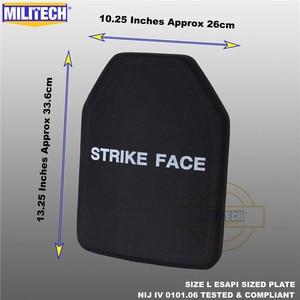 Image 3 - ESAPI Bulletproof Plate Ballistic Panel NIJ level 4 IV Alumina & PE Stand Alone Two PCS From Size S to XL Body Armor  Militech